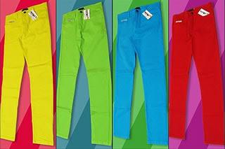 Comprar calças coloridas
