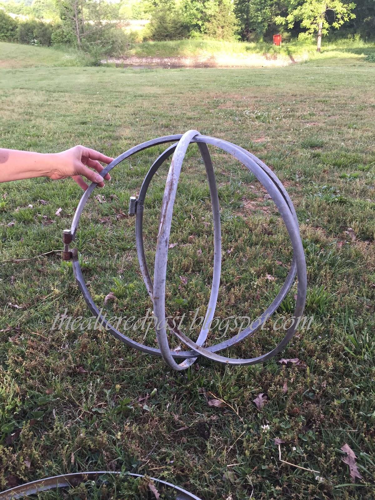 Spain Hill Farm Repurpose Steel Drum Rings into Garden Orbs