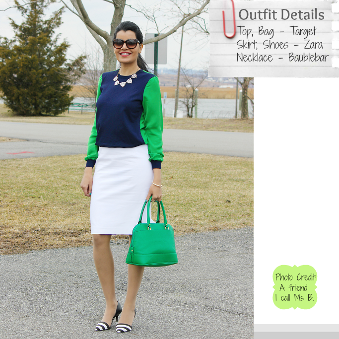 Green Satchel, Greet Target Stachel, Kelly Green handbags, Zara Pencil Skirt, Spring Outfit Ideas
