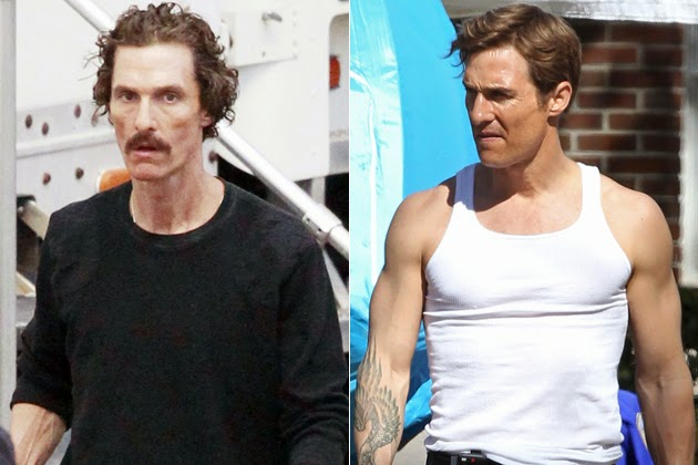 Matthew McConaughey during filming of
