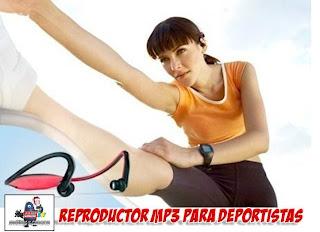 auriculares con reproductor MP3 para practicar deporte