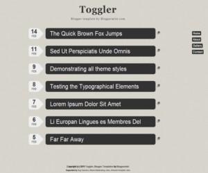 Toggler plantilla para blogger