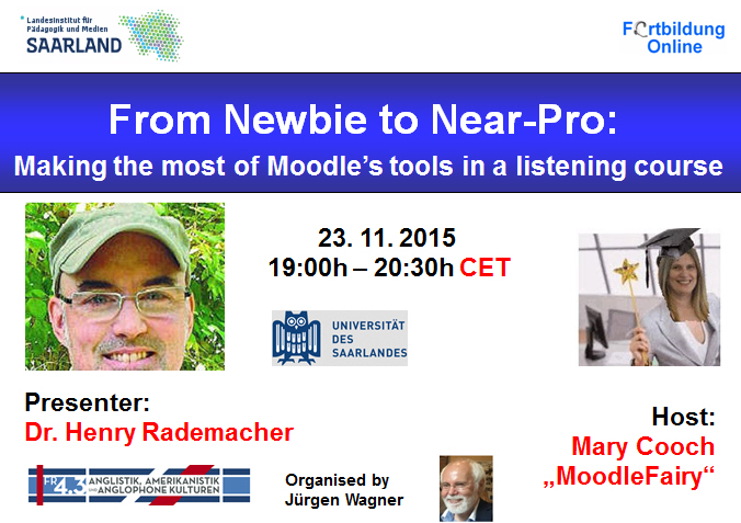 Globinars invitation to a free moodle related webinar from newbie from newbie to near pro making the most of moodles tools in a listening course stopboris Image collections