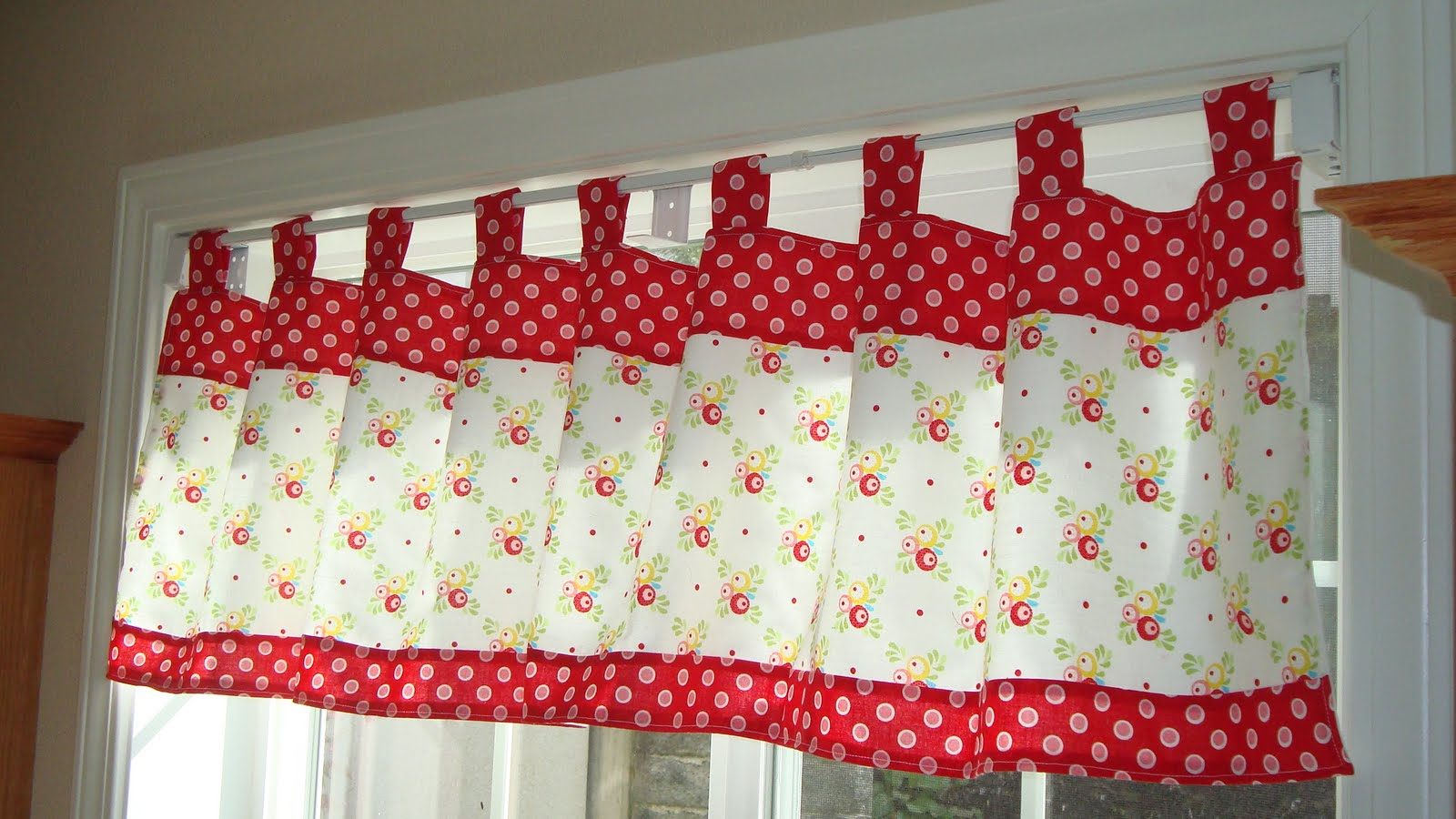 Curtains With Pom Poms Lace Kitchen Curtains and V