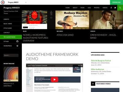 Progeny MMXIV WordPress Theme
