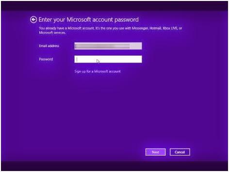 Masukkan Pasword email microsoft