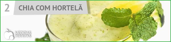 Suco de Chia com Hortelã - Receitas de Sucos Detox