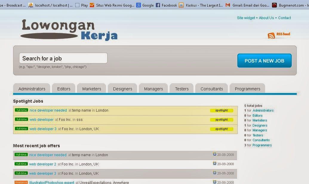 Lowongan Pekerjaan Online Shop