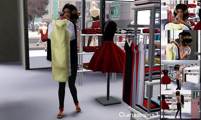Clarisse sims3 custom pose shopping