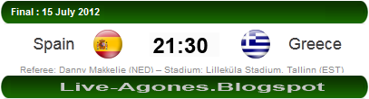 Spain vs Greece Euro U19 2012 Final..............by Live-Agones.Blogspot
