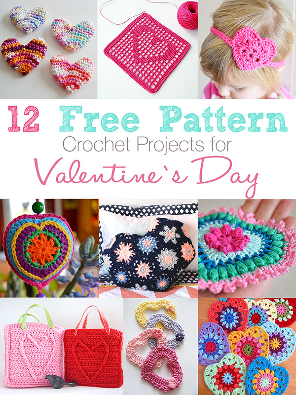 12 Free pattern crochet projects for Valentine\'s Day   Anabelia ...