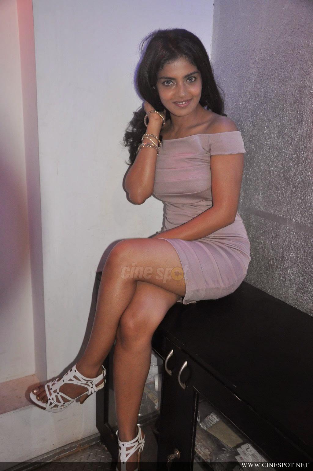 Janavi crossed legs thighs