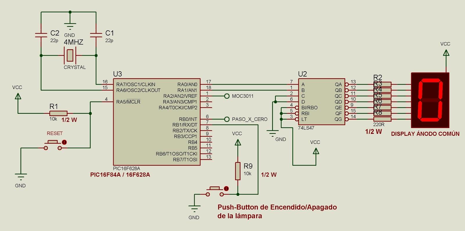 Circuito Optoacoplador : Microcontroladores y software