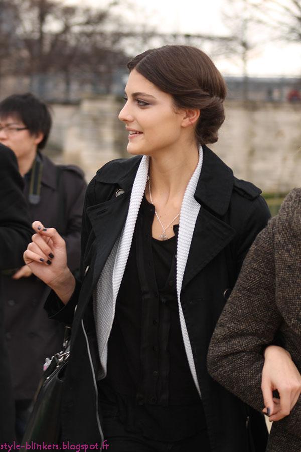 Models at the Paris Fashion Week F/W 2012-2013