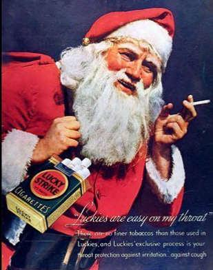 Santa, advertising, cigarette, Lucky Strike