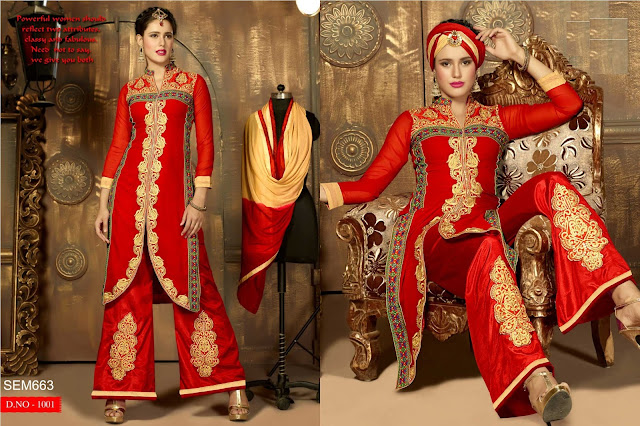 Pakisatni Stylish Fox Georgette Long Salwar Kameez