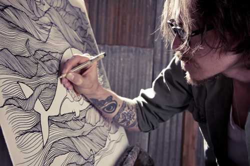 Sketchy notions friday feature brandon boyd for Brandon boyd mural