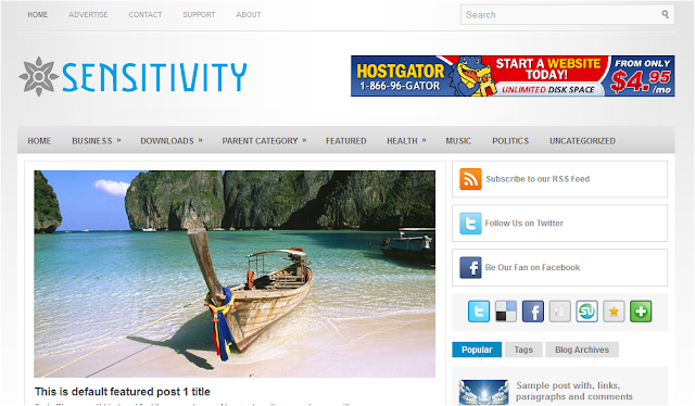 Sensitvity Blogger Template