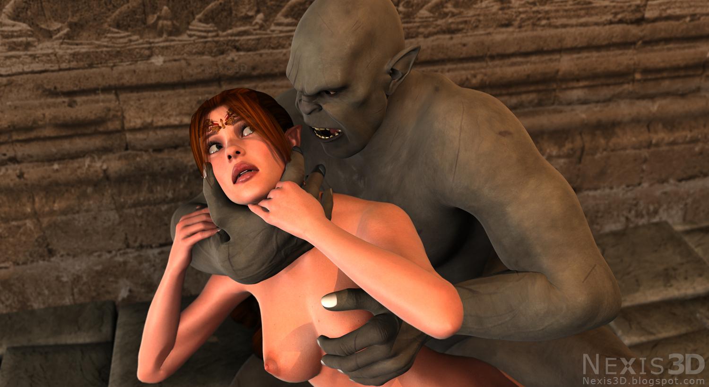 Human male on elf female nudes photos