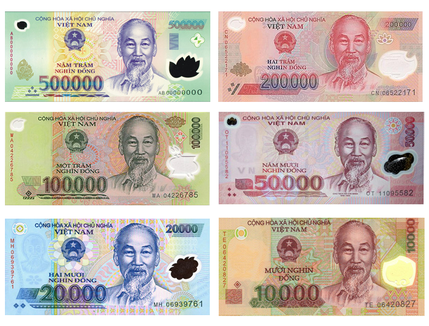 in terms of rate are the Iraqi Dinar (IQD) and Vietnamese Dong (VND