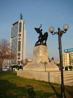 Panorama da cidade de Santiago do chile
