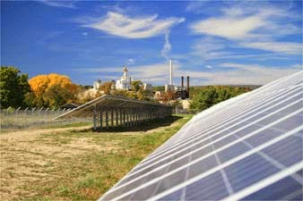 Constellation Installs 2.7-MW Ground-Mounted Solar Array at Owens Corning Plant  (Credit: ny-sun.ny.gov) Click to enlarge.