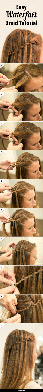 Learn How to DIY the Waterfall Braid Once and For All