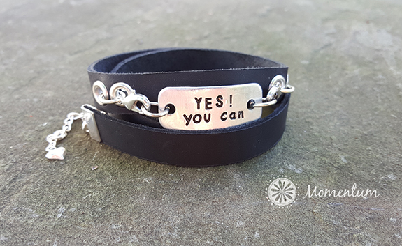 wrap bracelet, motivational jewelry, yes you can
