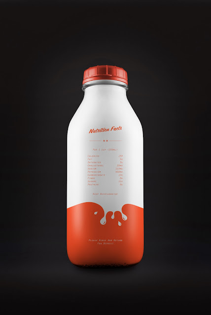Packaging design inspiration #12 - Yummy Milk by Simon Spring