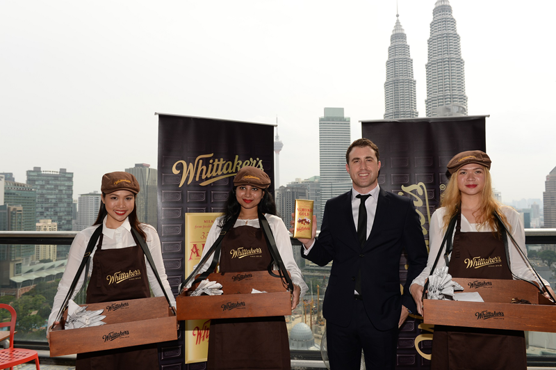 Matt Whittaker during the official launch of Whittaker's chocolate in Malaysia