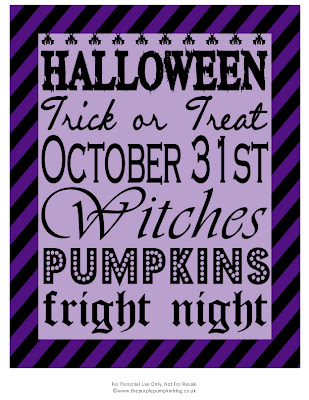 Halloween Subway Art | The Purple Pumpkin Blog