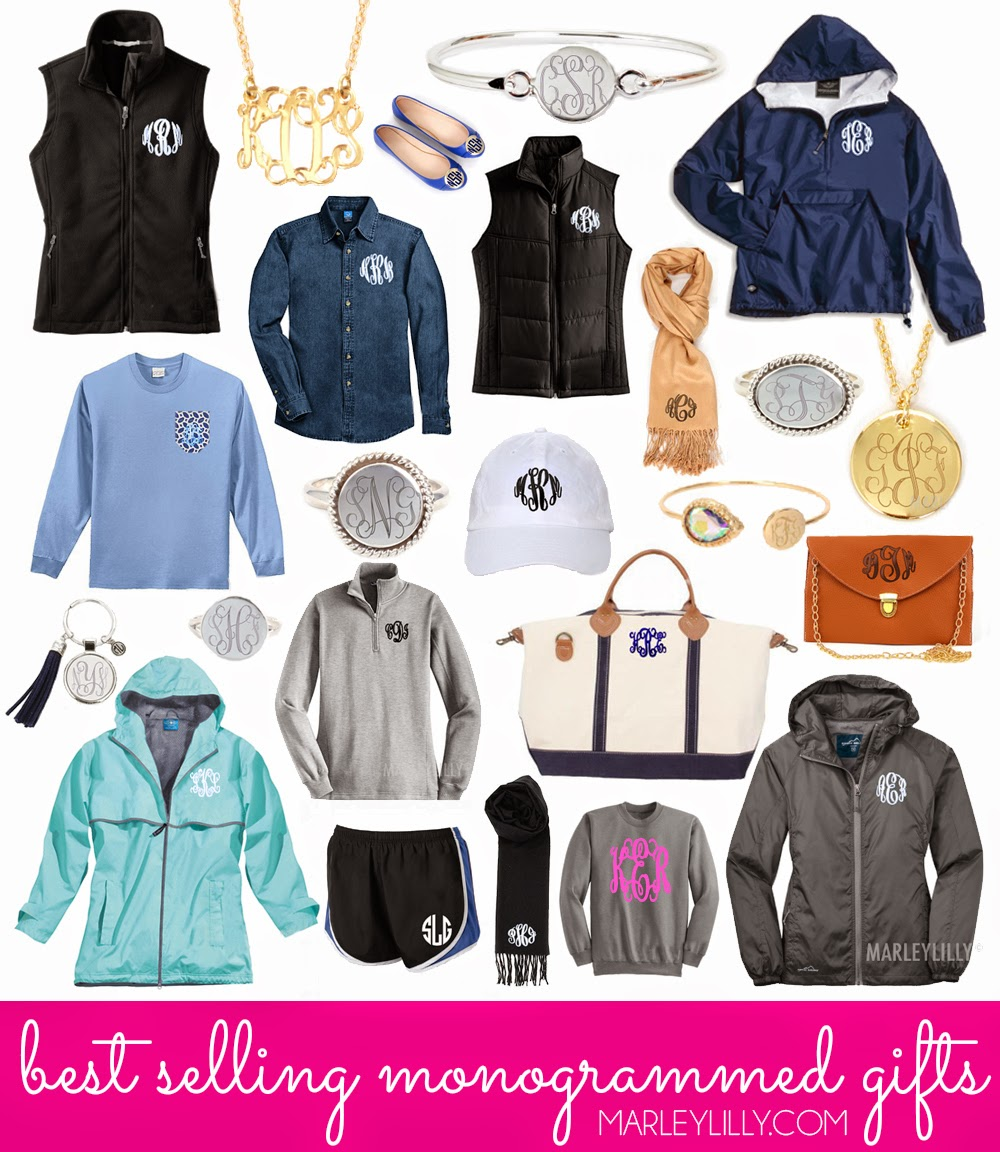 our best selling monogrammed gifts