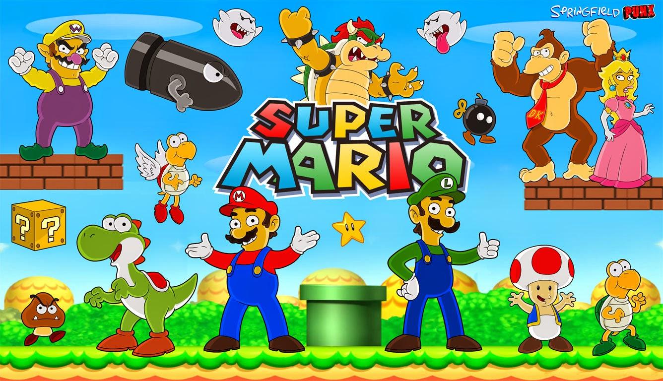 Springfield Punx Super Mario Wallpaper