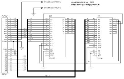 Esquema Atari cartucho F6