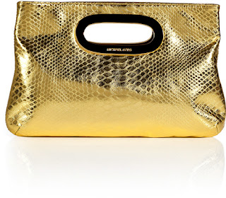 Michael by Michael Kors Snake Metallic Gold Clutch