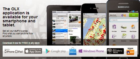 OLX Mobile App, a fun way to buy/sell/rent your house, cars and other products now available for all smart phones