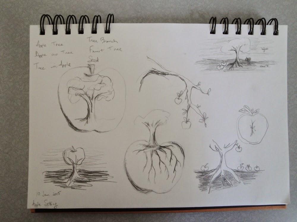 glass powder bullseye sgraffito fused frit painting apple tree root grow branch sketch draw art flutterbybutterfly flutterbyfoto day 10