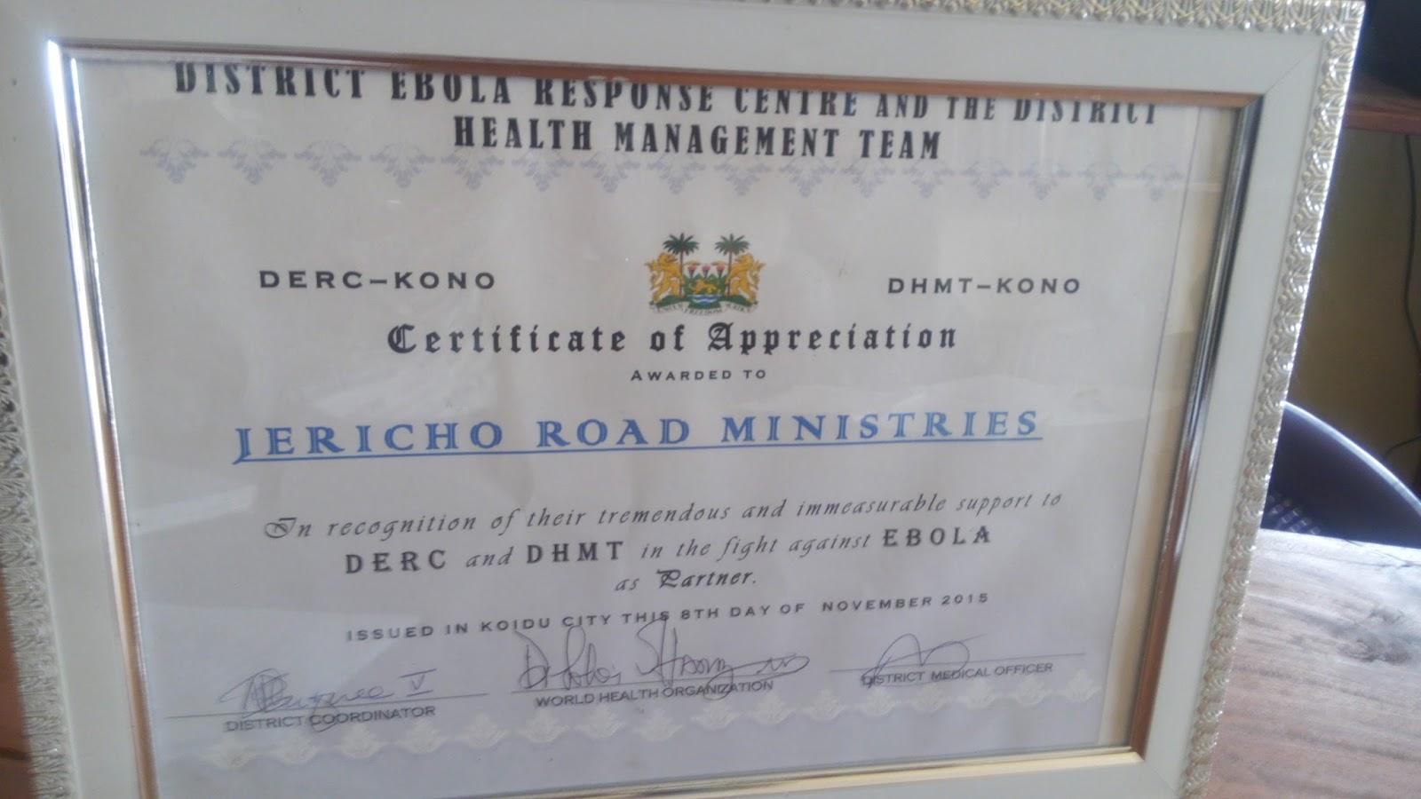 Jericho Road Global Health Outreach In Sierra Leone January 2016