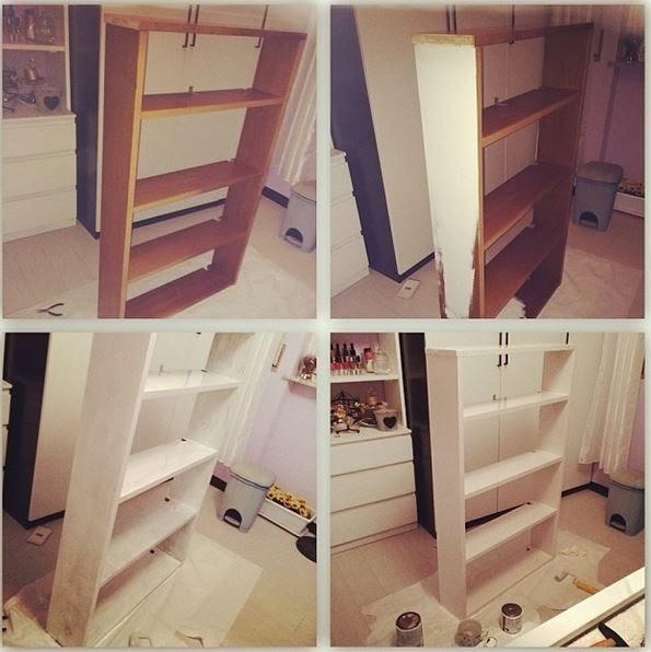 Giulia w come cambiare colore ad un mobile - Dipingere mobili cucina vecchia ...
