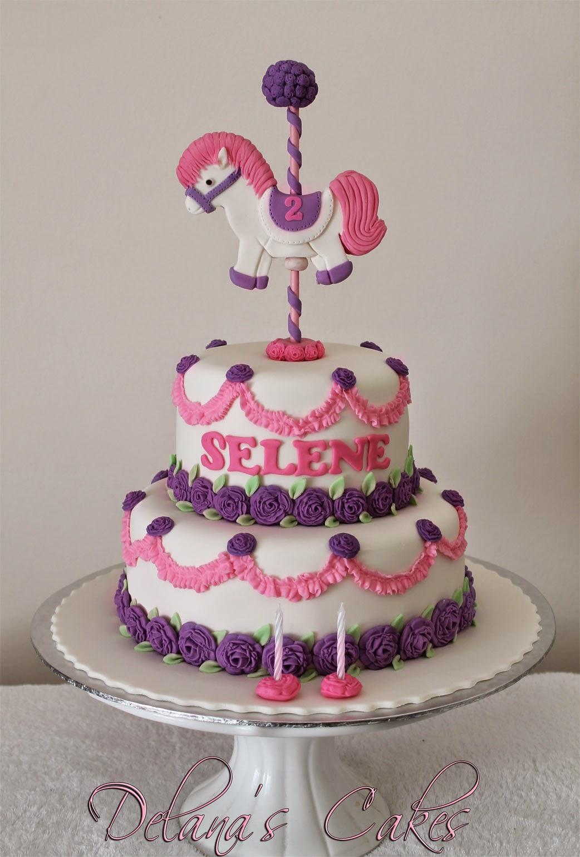Delanas Cakes Pony Carnival Cake