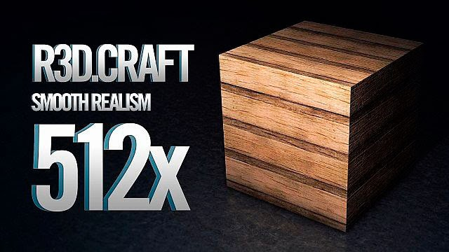 R3D Craft Texture Pack 512x Minecraft HD Madera