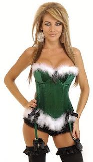 Holiday Helper Velvet Corset