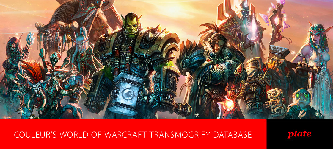 Couleur's World of Warcraft Database - Plate