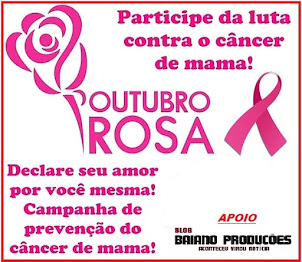 OUTUBRO ROSA CONTRA O CÂNCER DE MAMA