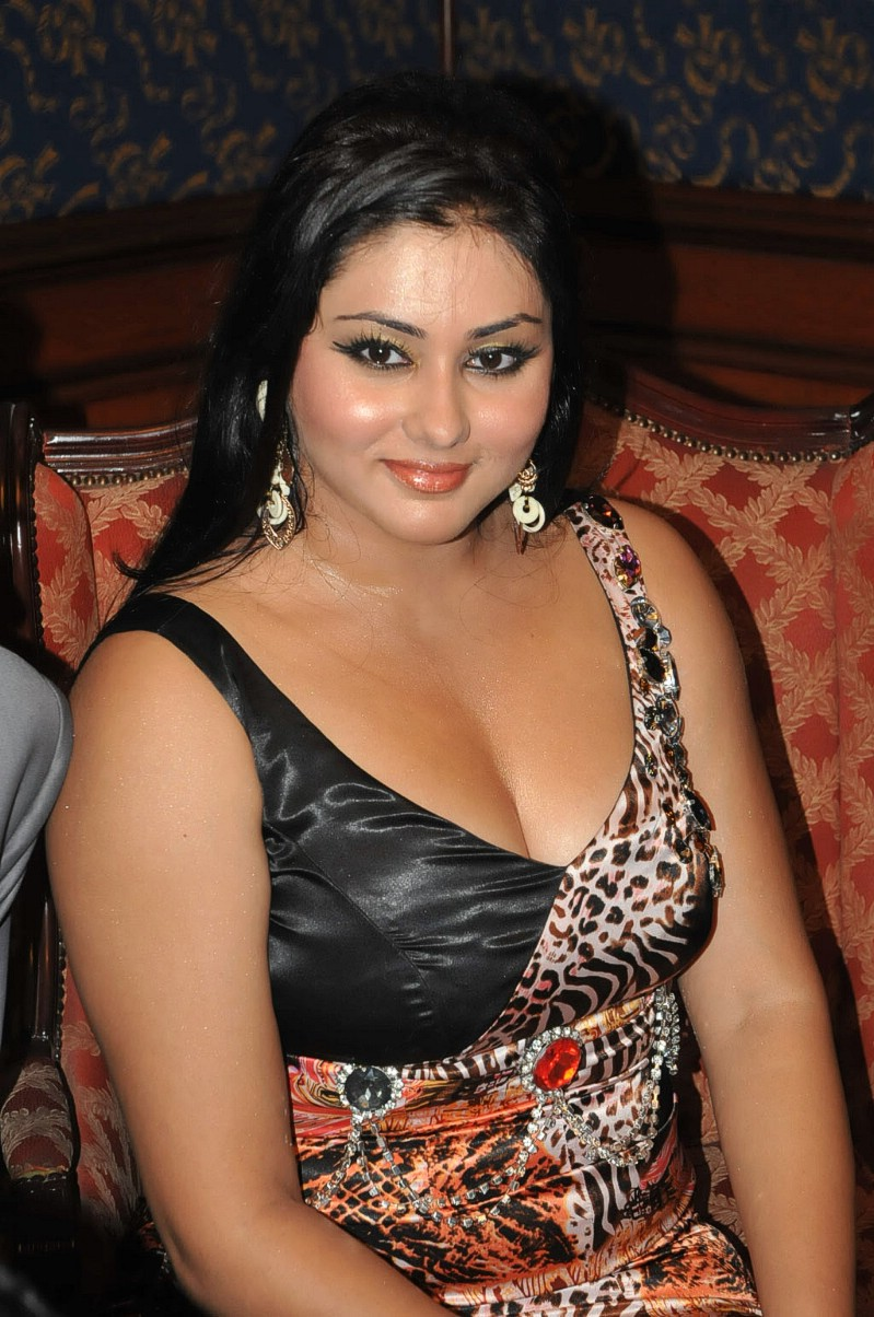 Namitha Hot Transparent Saree Stills