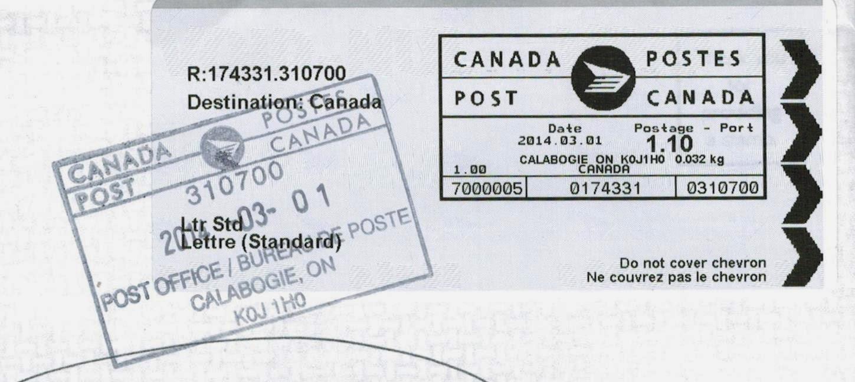 Postal History Corner: Canadian Standard Size Letter Rates : Jan