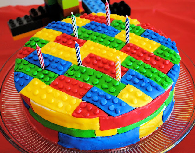 Lego Birthday Cake