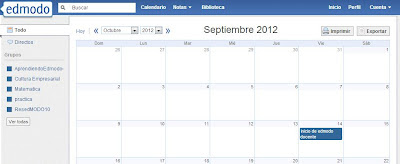 Calendario en Edmodo