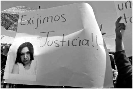 "Justicia por el asesinato de Meztli Sarabia, hija de ""Simitrio""."