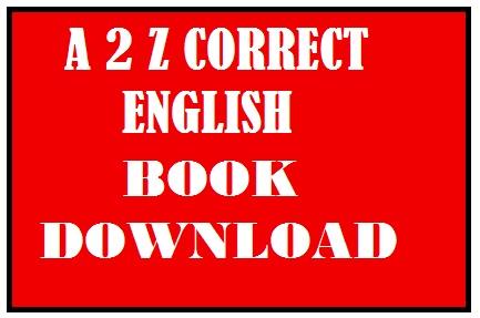 a2z correct english. english pdf, english books, ibps exam paper, bank exam paper, bank po , bank clerk, sbi exam paper